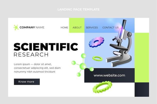 Isometrische wetenschappelijke bestemmingspagina