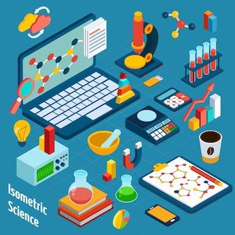 Isometrische wetenschappelijke werkplek