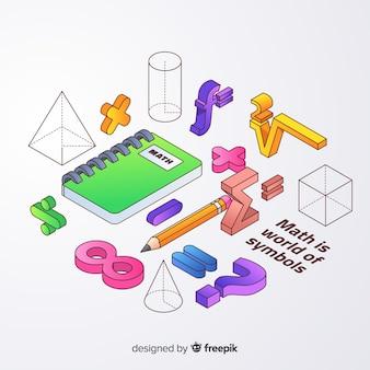 Isometrische wiskunde elementen achtergrond