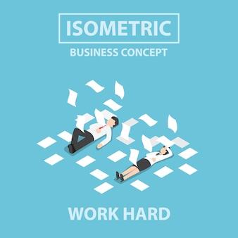Isometrische zakenmensen