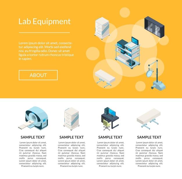 Isometrische ziekenhuis pictogrammen. 3d geneeskunde en technologie