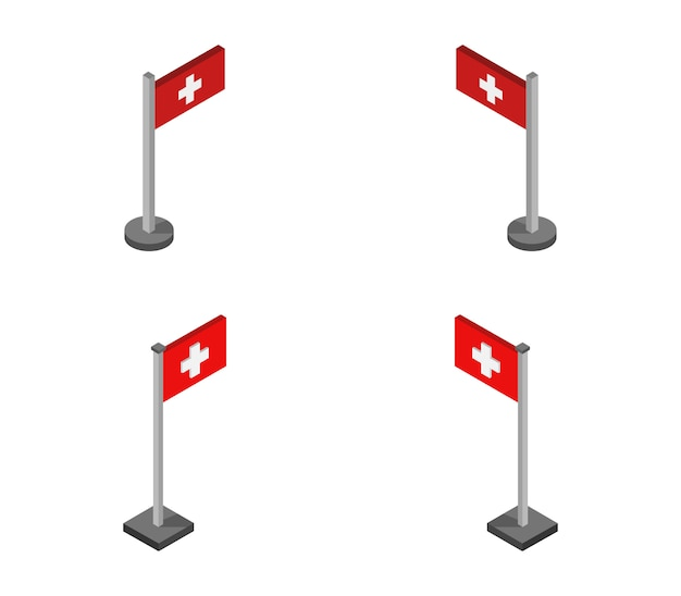 Isometrische zwitserse vlag