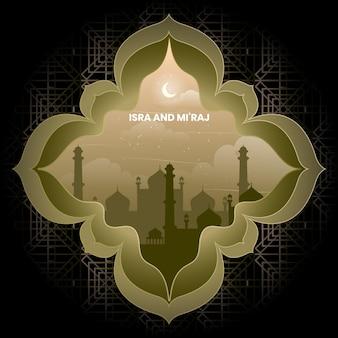 Isra' en mi'raj arabische islamitische achtergrond ramadhan