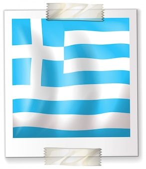 Israël vlag op vierkant papier