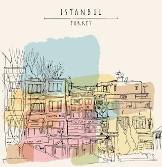 Istanbul achtergrond ontwerp