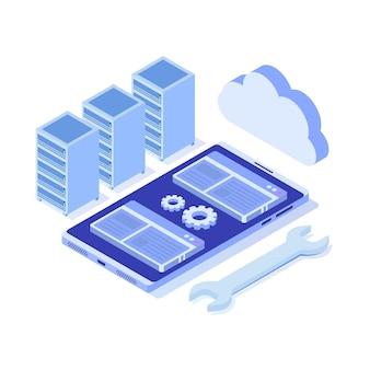 It-beheerders server illustratie