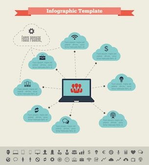 It-industrie infographic elementen