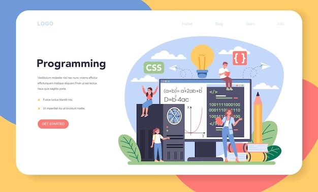 It-onderwijs webbanner of bestemmingspagina
