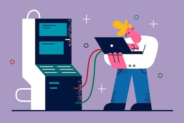 It-technologieën en software-illustratie