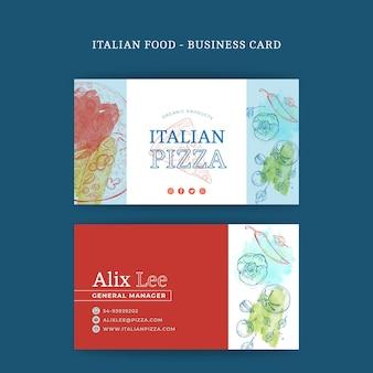 Italiaans eten dubbelzijdig visitekaartje h