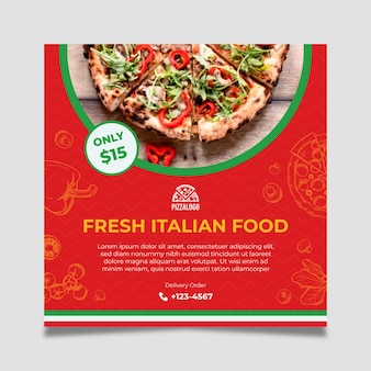 Italiaans eten flyer-sjabloon