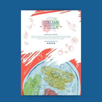 Italiaans eten poster concept