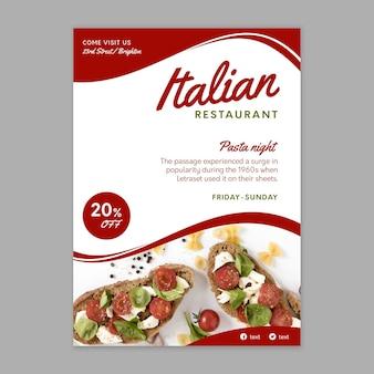 Italiaans eten poster sjabloon