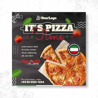 Italiaans eten vierkante flyer