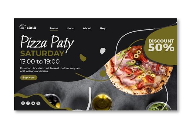 Italiaans eten websjabloon