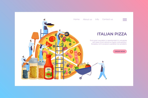 Italiaans pizzavoedsel