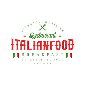 Italiaans voedselembleem voor restaurant