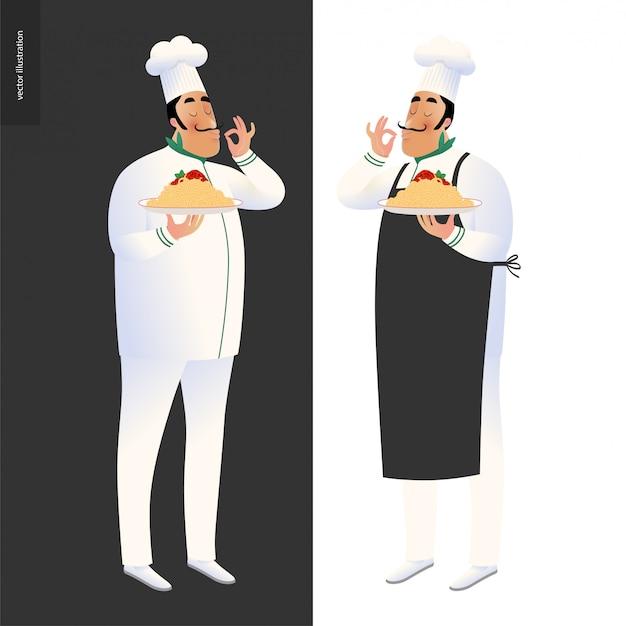 Italiaanse chef-koks