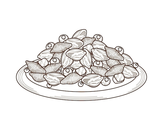Italiaanse pasta konkilonis en olijven