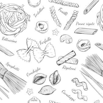 Italiaanse pasta naadloze patroon