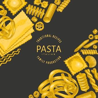 Italiaanse pasta ontwerpsjabloon