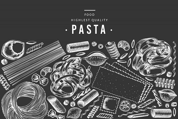 Italiaanse pasta ontwerpsjabloon.