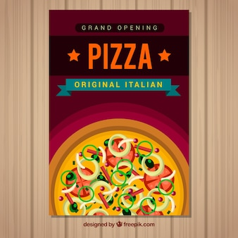 Italiaanse pizza brochure