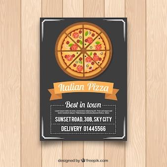 Italiaanse pizza flyer