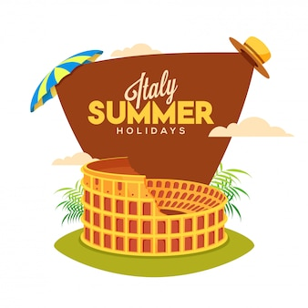 Italië zomervakantie poster