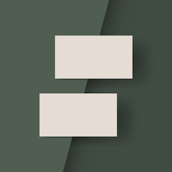 Ivoor kleur visitekaartjes geïsoleerd