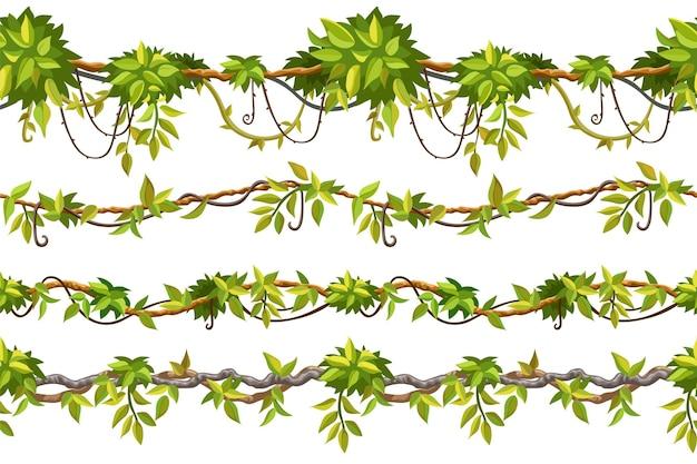 Ivy naadloze patroonrand liana takken