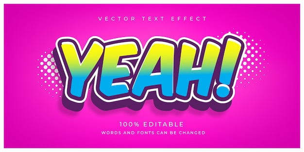 Ja, bewerkbaar teksteffect