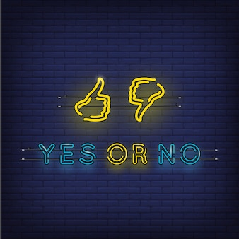 Ja of nee ontwerp