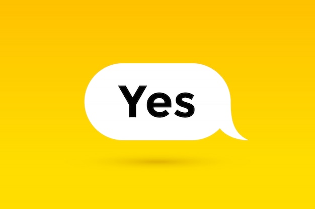 Ja. , tekstballon, poster en sticker concept