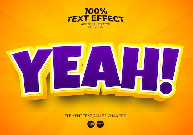 Ja, teksteffect