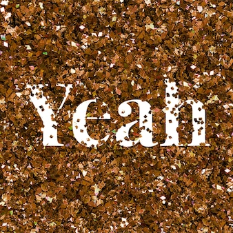 Ja woord tekst glitter typografie