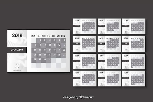 Jaar kalender 2019