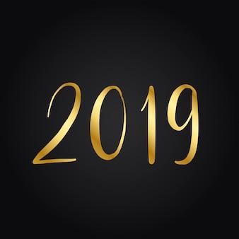 Jaar van 2019 typografie stijl vector
