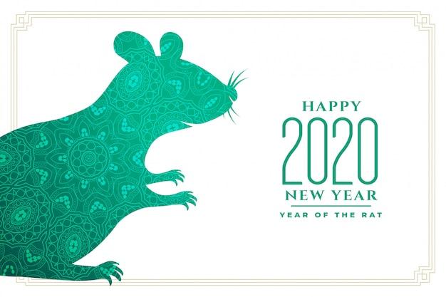 Jaar van de rat voor chinees nieuw jaar