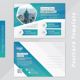 Jaarlijks conferance business post card template