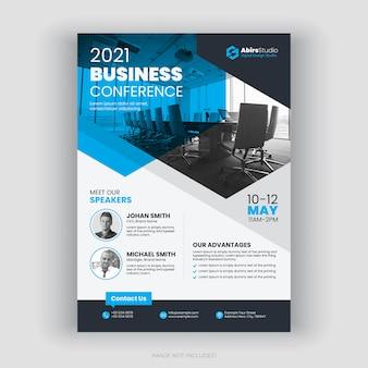 Jaarlijkse business conference flyer-sjabloon