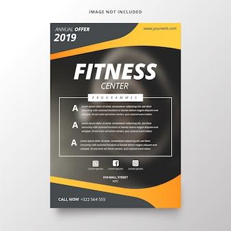 Jaarplan voor sjabloon voor fitnesscentrum