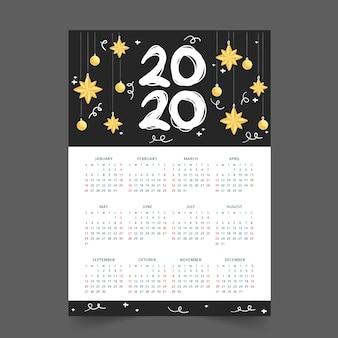 Jaarrooster kalender 2020