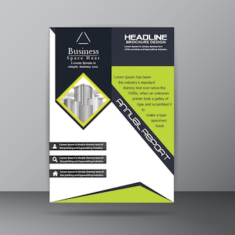 Jaarverslag brochure template for corporate company doel