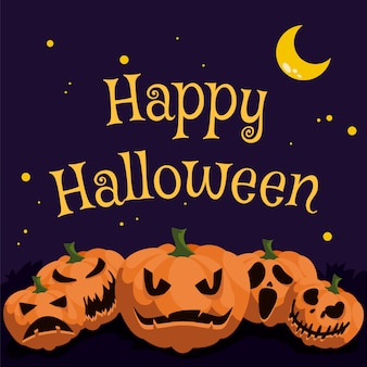 Jack-0-lantern halloween-groeten
