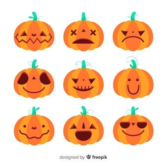 Jack o lantaarn platte halloween pompoen