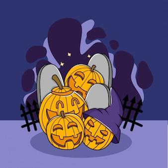 Jack o lantern doodle tekens