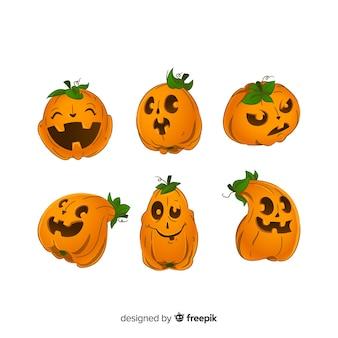 Jack o lantern geanimeerde pompoen voor halloween