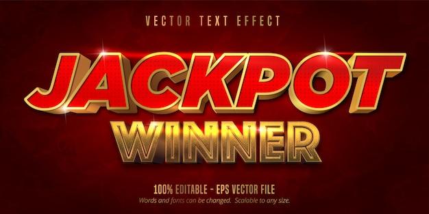 Jackpot prijsstijl, bewerkbaar teksteffect