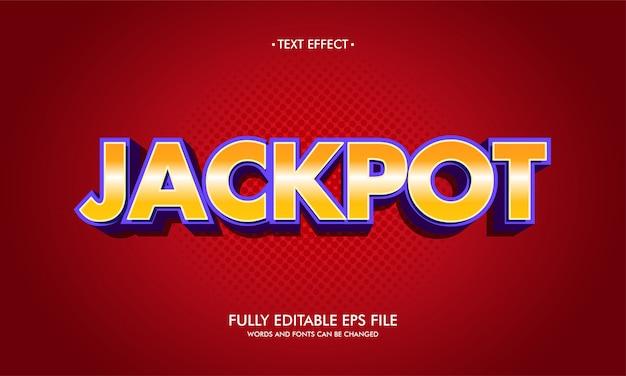 Jackpot teksteffect.